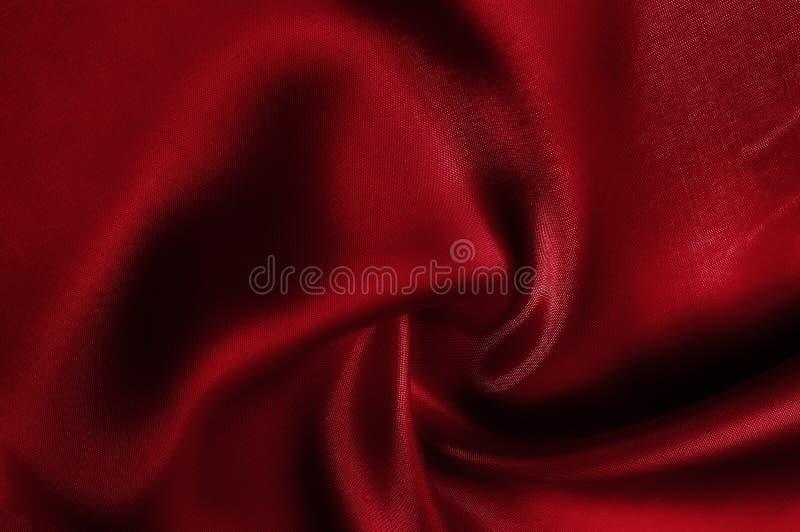 Texture, modèle soie de rouge de tissu Regardez le rouge et rôtissez fou photos libres de droits