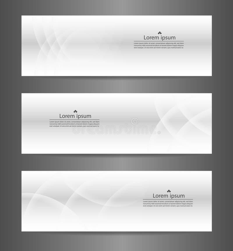 Texture moderne abstraite grise de bannière de l'ensemble trois illustration libre de droits
