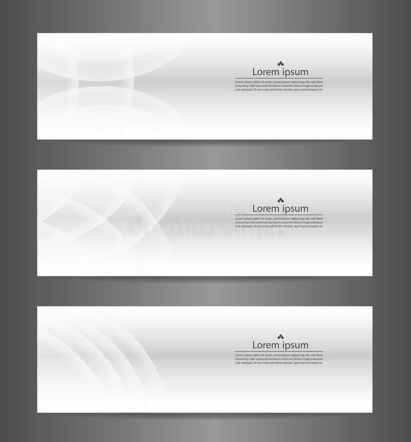 Texture moderne abstraite grise de bannière de l'ensemble trois CCB de bannière de vecteur illustration de vecteur