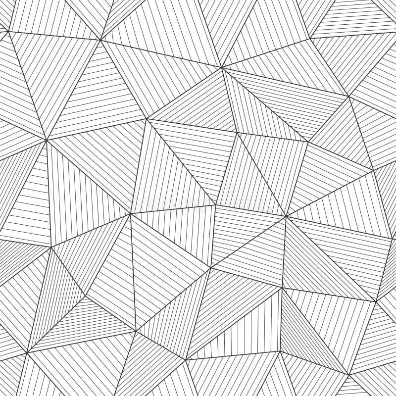 Texture moderne de maille avec les fibres parallèles Noir et blanc léger illustration stock