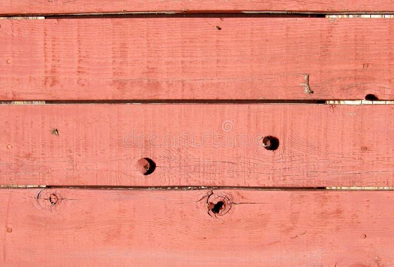 Texture : Mur en bois rouge image stock