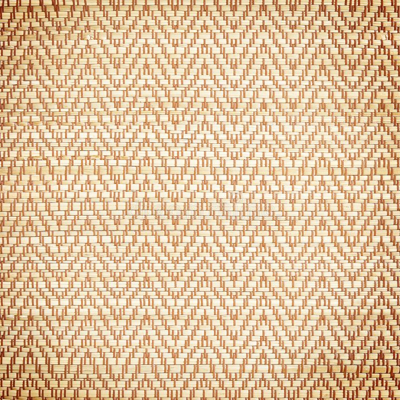 Texture of native thai style weave sedge mat texture background - made f stock photos