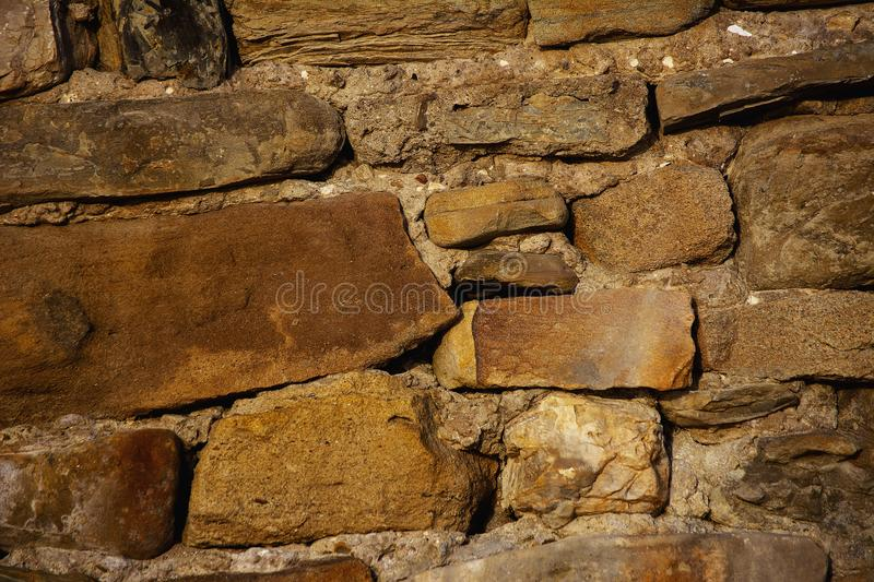 Texture of natural stone with inclusions of stones of different sizes royalty free stock images