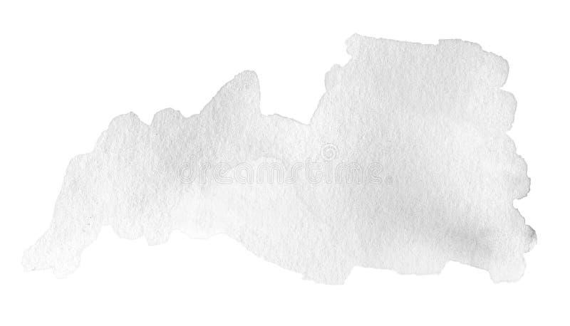 Texture noire abstraite d'aquarelle Tache peinte à la main d'encre illustration libre de droits