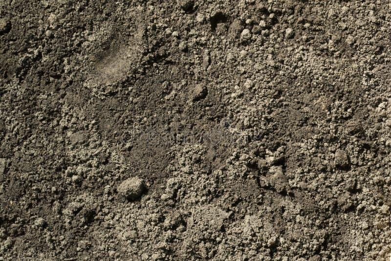 Texture noire de fond de saleté de sol, modèle naturel images libres de droits