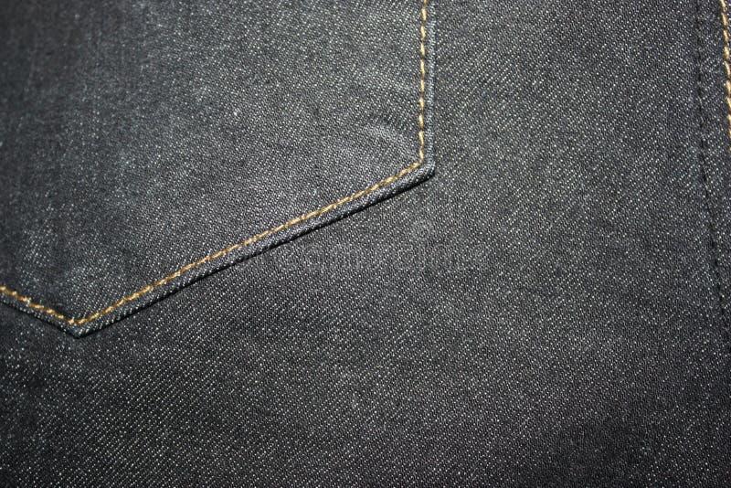 Texture noire de jeans image libre de droits