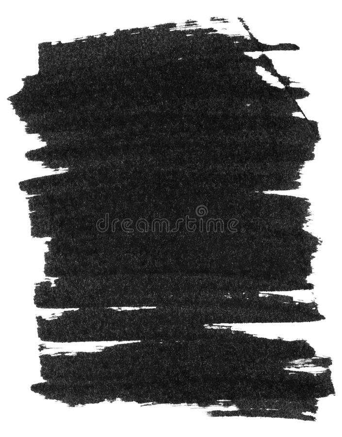 Texture noire de peinture de marqueur illustration stock