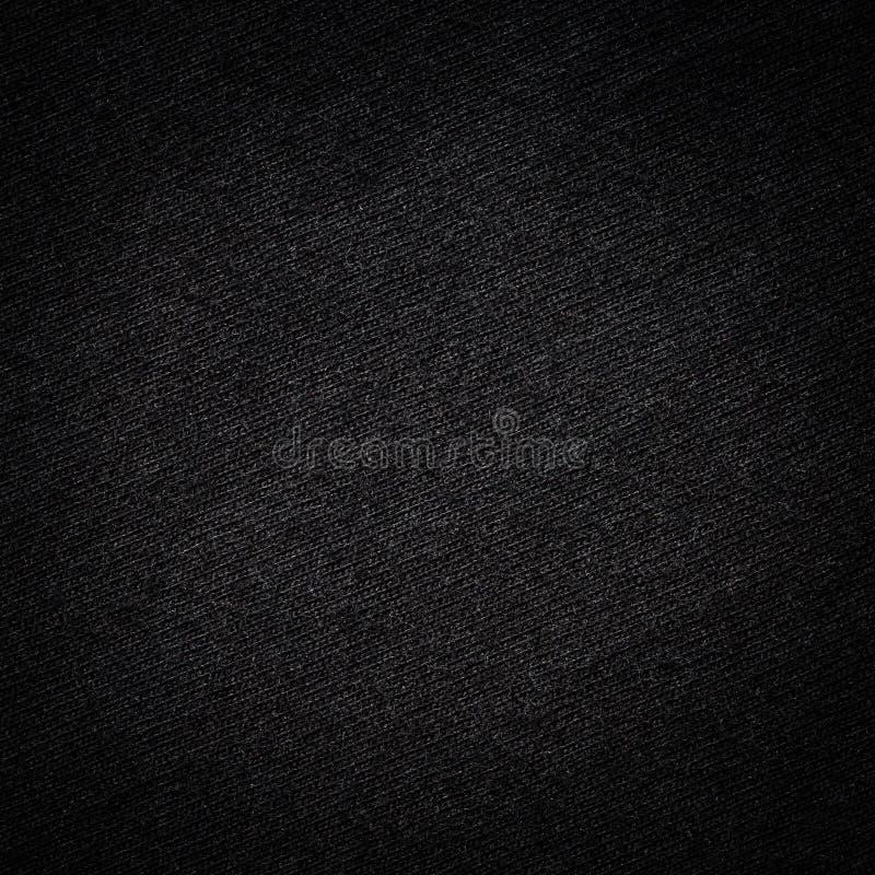 Texture noire de T-shirt de couleur photo libre de droits