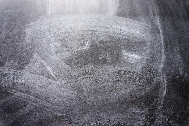 Texture noire de tableau La craie abstraite a frotté sur la texture de tableau noir ou de tableau image libre de droits