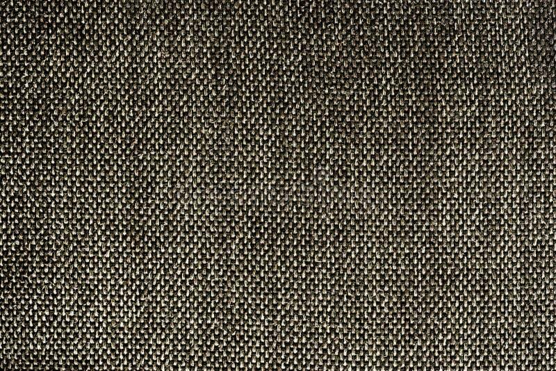 Texture noire de tissus synthétiques de couleur de plan rapproché - conception de modèle image stock