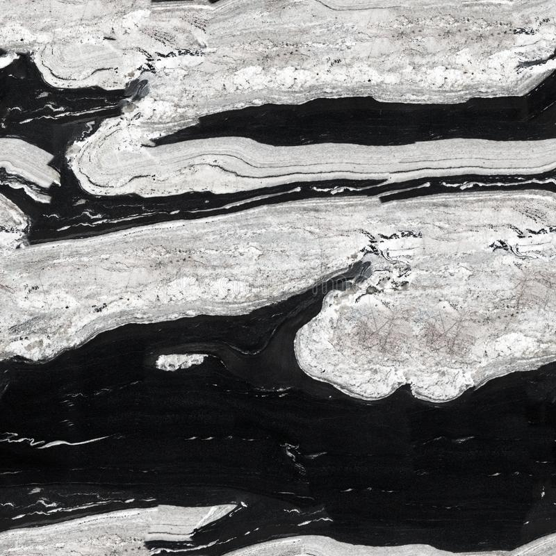 Texture noire et blanche de granit Fond carré sans couture, jusqu'à images libres de droits