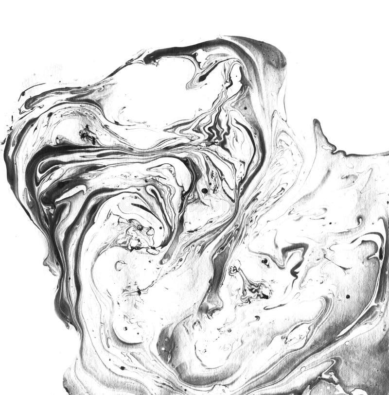 Texture noire et blanche de marbre décorative Peinture abstraite Fond à la mode pour l'impression et les sites Web exceptionnel image stock