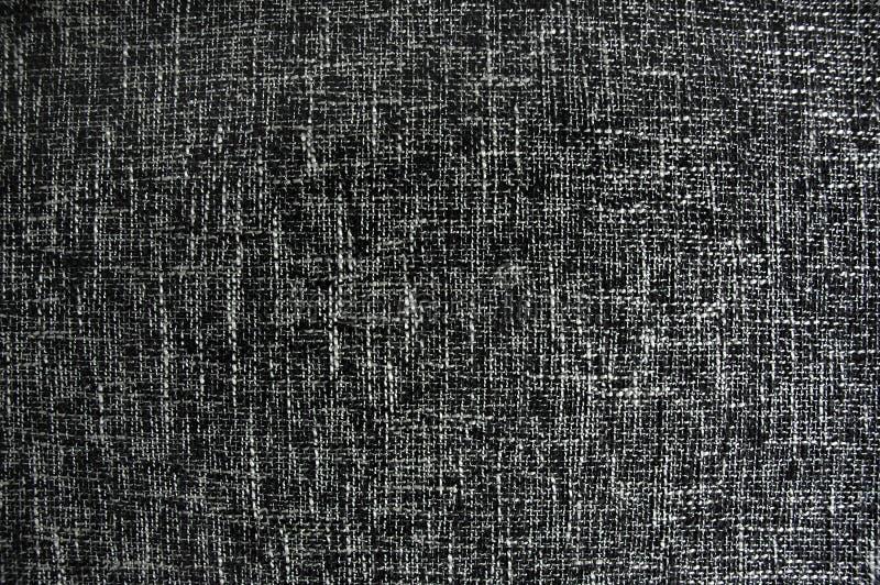 Texture noire et blanche de tissu photographie stock libre de droits