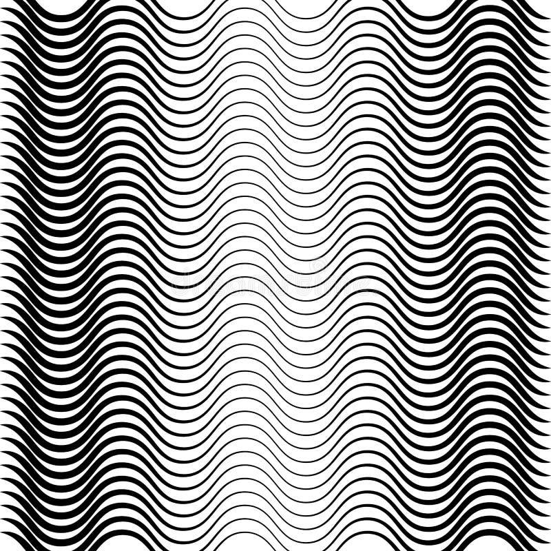 Texture noire et blanche géométrique Maille, modèle de grille des lignes illustration stock