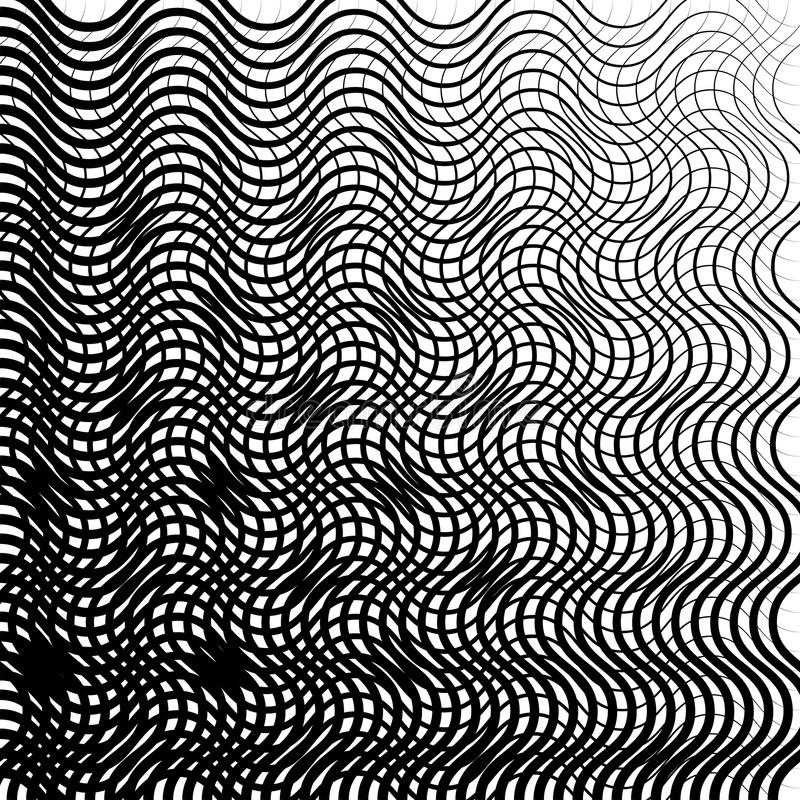 Texture noire et blanche géométrique Maille, modèle de grille des lignes illustration libre de droits