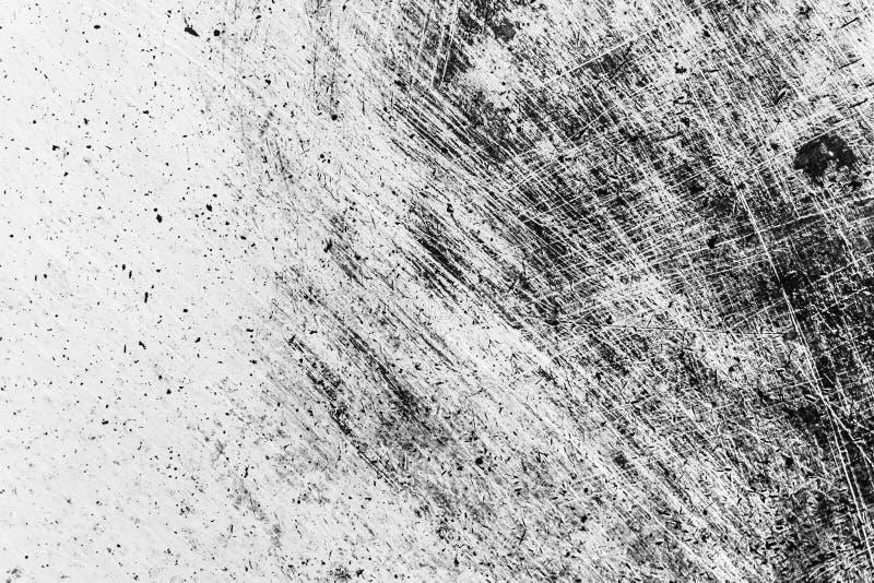 Texture noire et blanche grunge de détresse Texture d'éraflure saleté photo stock
