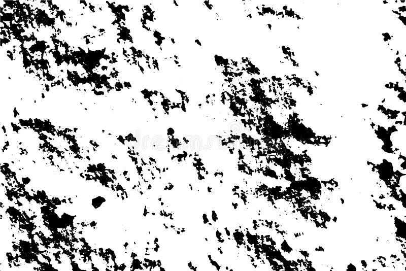 Texture noire et blanche grunge tramée affligée de vecteur - vrai fond d'hiver de texture de neige pour l'abrégé sur création illustration stock