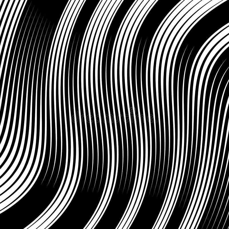 Texture noire et blanche linéaire abstraite Maille, choix de lignes GE illustration libre de droits