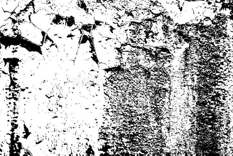 Texture noire et blanche superficielle par les agents vieux par grunge illustration libre de droits