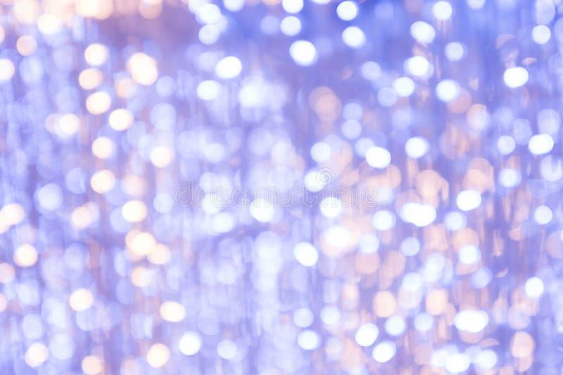 Texture a noite do bokeh para o fundo do feriado do mas do ` de x fotografia de stock royalty free