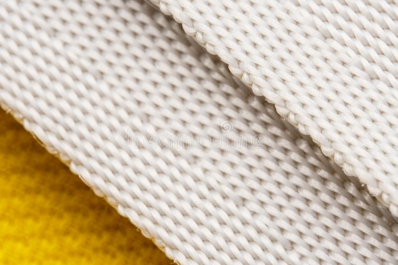 Texture of nylon strap sports bag. Macro background of sports cloth textile stock image