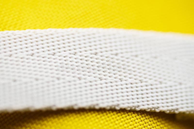 Texture of nylon strap sports bag. Macro background of sports cloth textile royalty free stock photos