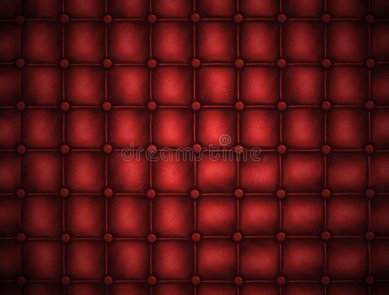 Texture o couro estofou um sofá. Cor vermelha ilustração royalty free
