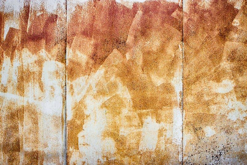 Texture o ferro oxidado no fundo, cerca pintada do metal velha ilustração stock