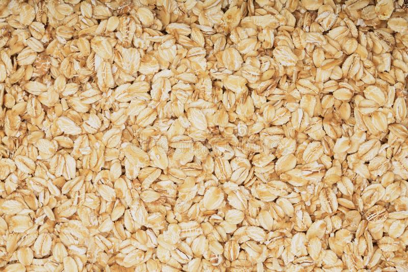 Texture of oatmeal as a background. Top view stock images