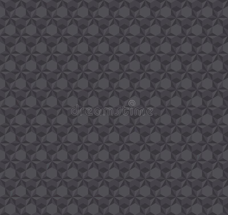 Texture a obscuridade da ilusão 3d - teste padrão sem emenda cinzento ilustração stock