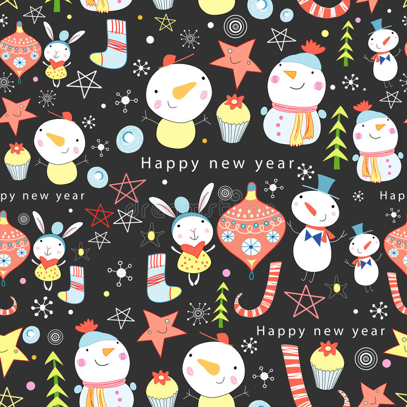 Free Texture Of Snowmen And Toys Stock Images - 21914924