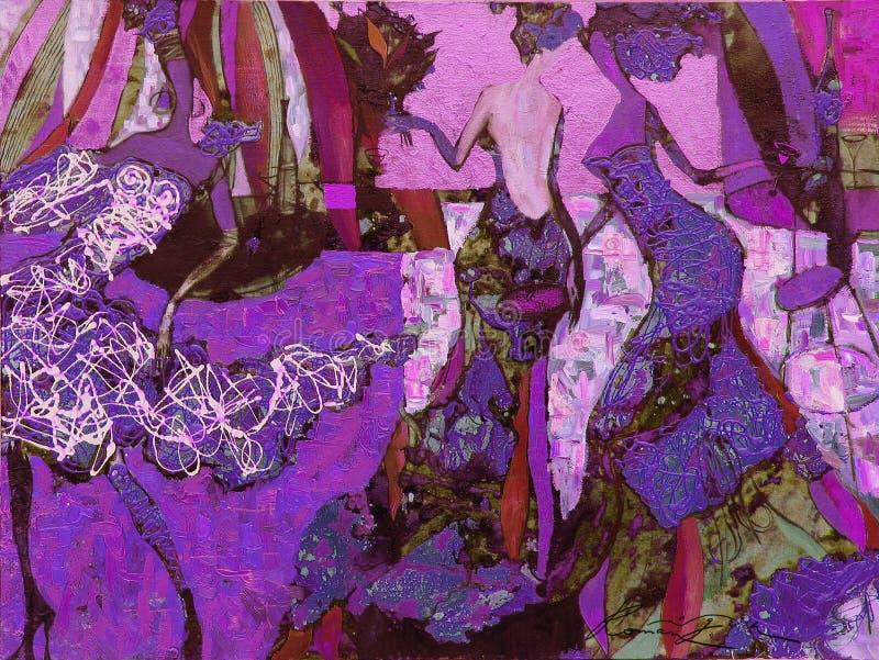 Texture oil painting. author Roman Nogin, series `Women`s talk.` , Author`s version of color. Texture, oil painting, author Roman Nogin, series `Women`s talk stock images