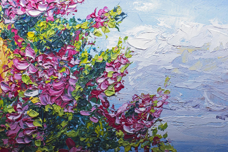Download Texture Oil Painting Flowers Art Painted Color Image Paint Stock