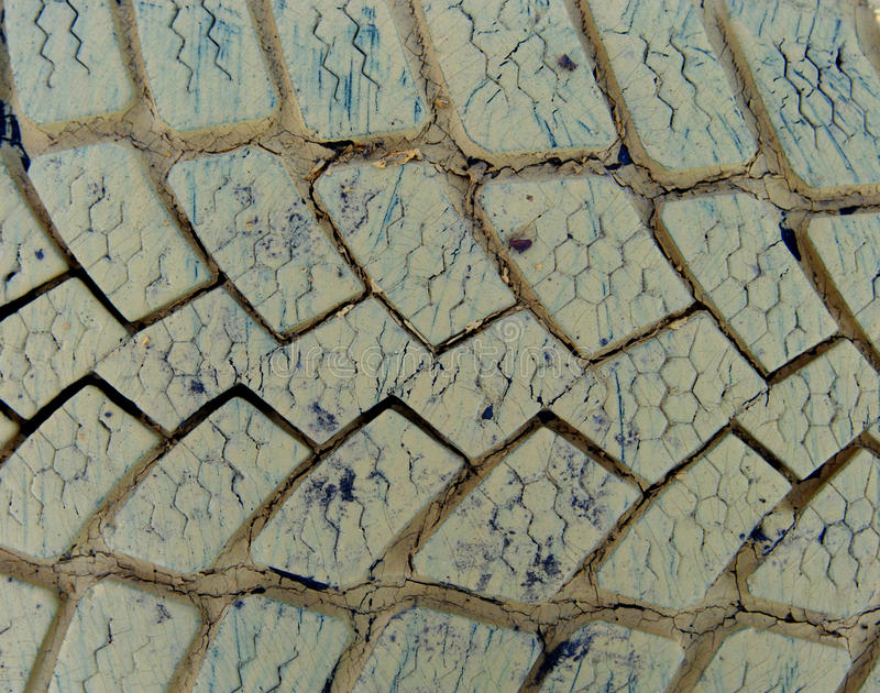Texture of old car tires royalty free stock photography