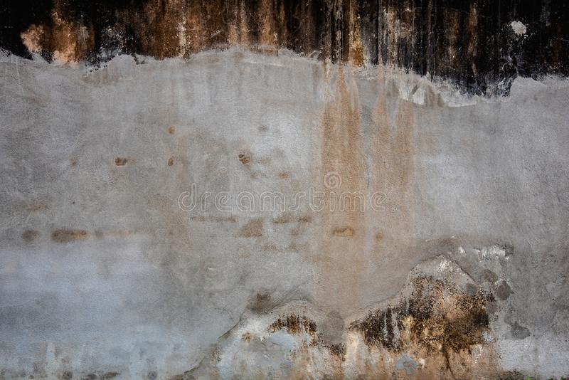 Texture of old grunge cracked and weathered cement concrete wall for background and wallpaper royalty free stock photos