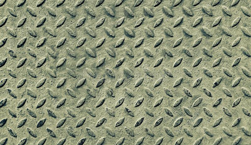 Texture of old khaki metal diamond plate royalty free stock images