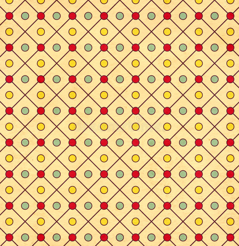 Texture of the old paper with geometric ornamental pattern. Texture of the old soiled paper with geometric ornamental pattern royalty free illustration