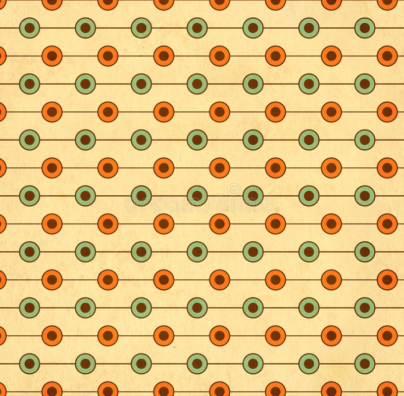 Texture of the old paper with geometric ornamental pattern. Texture of the old soiled paper with geometric ornamental pattern stock illustration