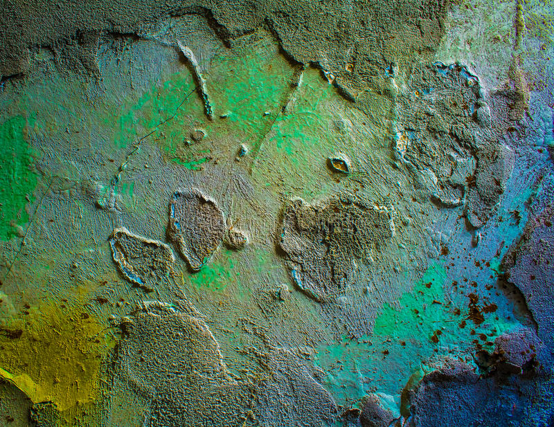 The texture is old plaster. stock image