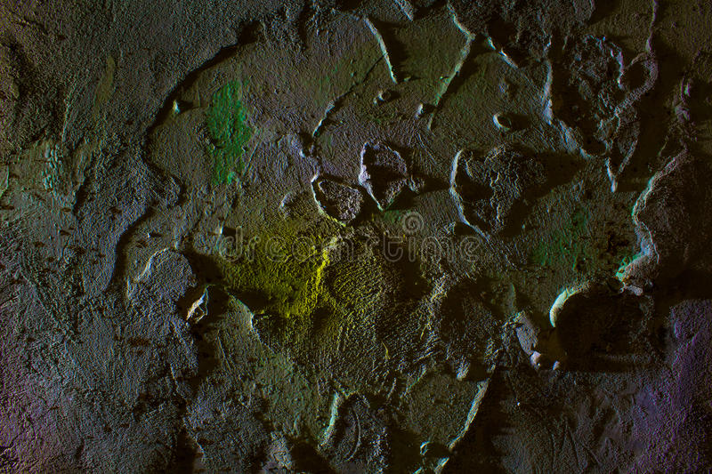 The texture is old plaster. stock photo