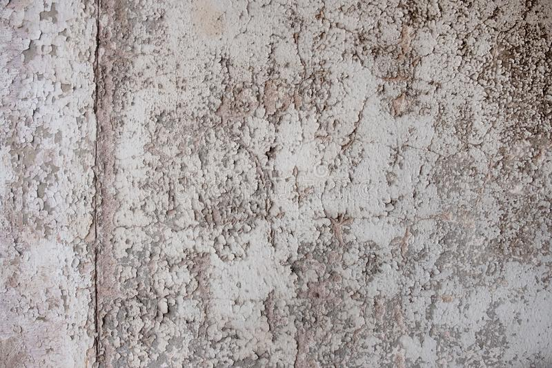 Texture with old, used, cunning painting, paint gray monochrome peeled off. Grunge color results in a free abstract pattern royalty free stock photos