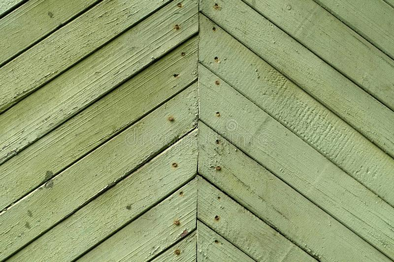 Texture of the old vintage wooden boards painted in green royalty free stock image