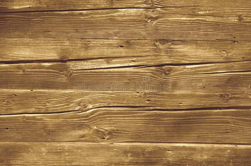 Cracked wood board texture, knotted wood grain stock photo