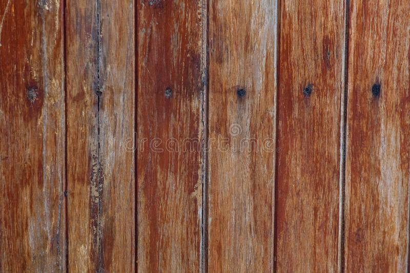 Texture of old wood panels pinned with nails stock image