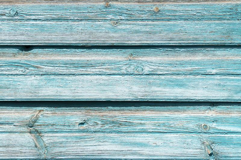 Texture old wooden blue background. Background of wood with cracked paint, old boards, free without objects. Billet. Wood horizontal boards wall. Similiar royalty free stock photo
