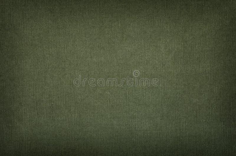 Texture olive de coton avec la vignette photographie stock