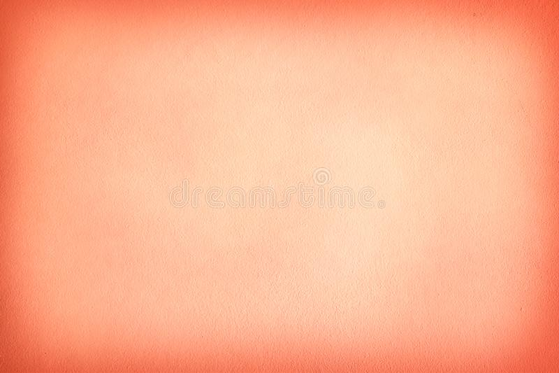 Texture of orange cement wall a smooth and simple bright for background with copy space royalty free stock photo