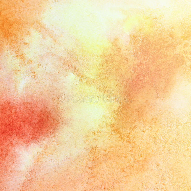 Texture orange d'aquarelle illustration libre de droits