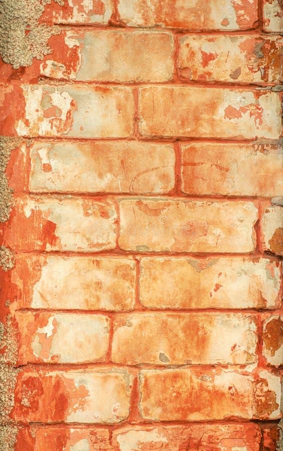 Texture orange de briques Fond pour la conception E Texture en pierre photos stock