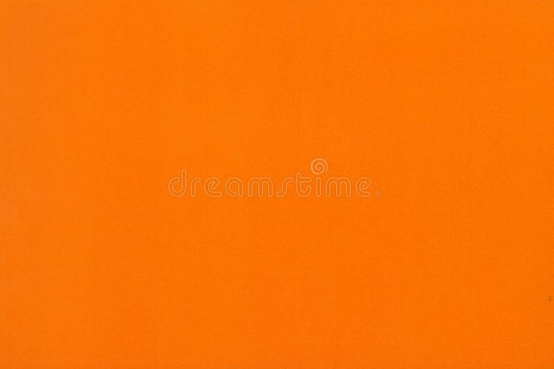 Texture orange de papier de mousse de couleur pour le fond ou la conception photographie stock